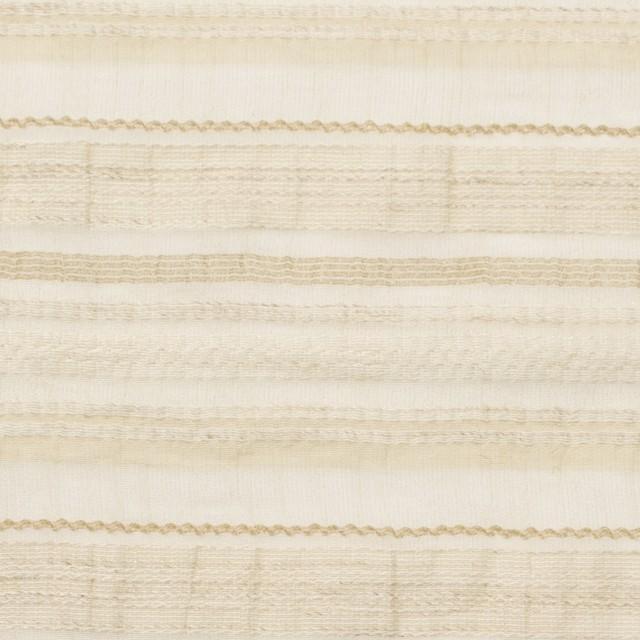 ナイロン&リネン混×ボーダー(ベージュ)×オーガンジー・ジャガード_全4色 イメージ1
