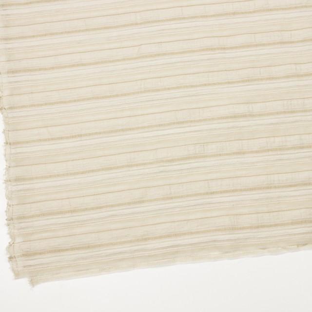 ナイロン&リネン混×ボーダー(ベージュ)×オーガンジー・ジャガード_全4色 イメージ2
