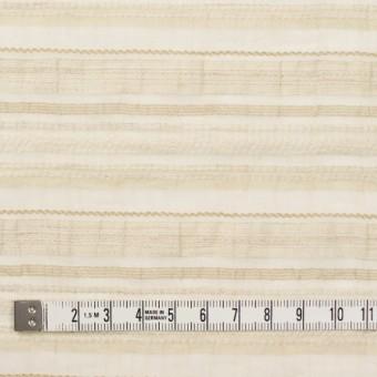 ナイロン&リネン混×ボーダー(ベージュ)×オーガンジー・ジャガード_全4色 サムネイル4