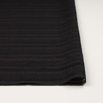ナイロン&リネン混×ボーダー(ブラック)×オーガンジー・ジャガード_全4色 サムネイル3