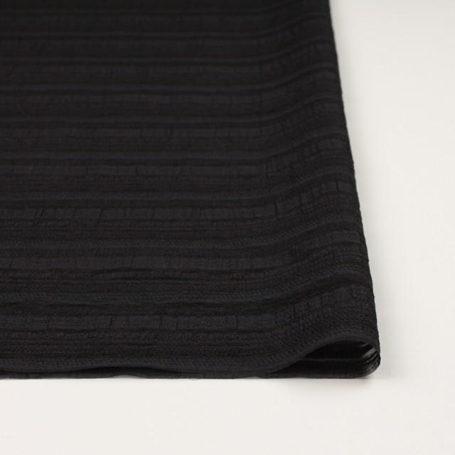ナイロン&リネン混×ボーダー(ブラック)×オーガンジー・ジャガード_全4色 イメージ3