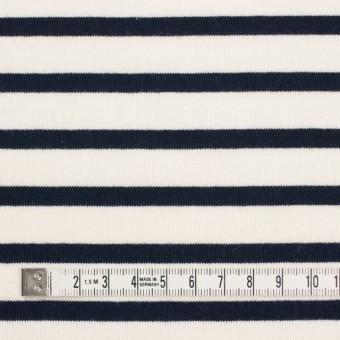 コットン×ボーダー(キナリ&ダークネイビー)×天竺ニット_全4色 サムネイル4
