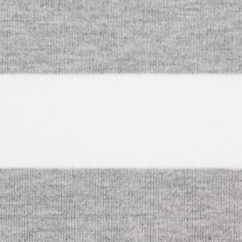 コットン×ボーダー(ホワイト&ライトグレー)×天竺ニット_全4色