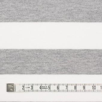 コットン×ボーダー(ホワイト&ライトグレー)×天竺ニット_全4色 サムネイル4