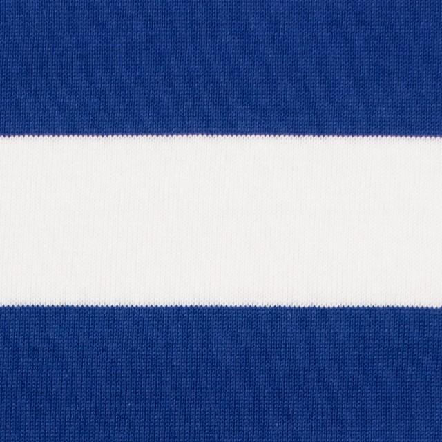 コットン×ボーダー(ホワイト&ブルー)×天竺ニット_全4色 イメージ1