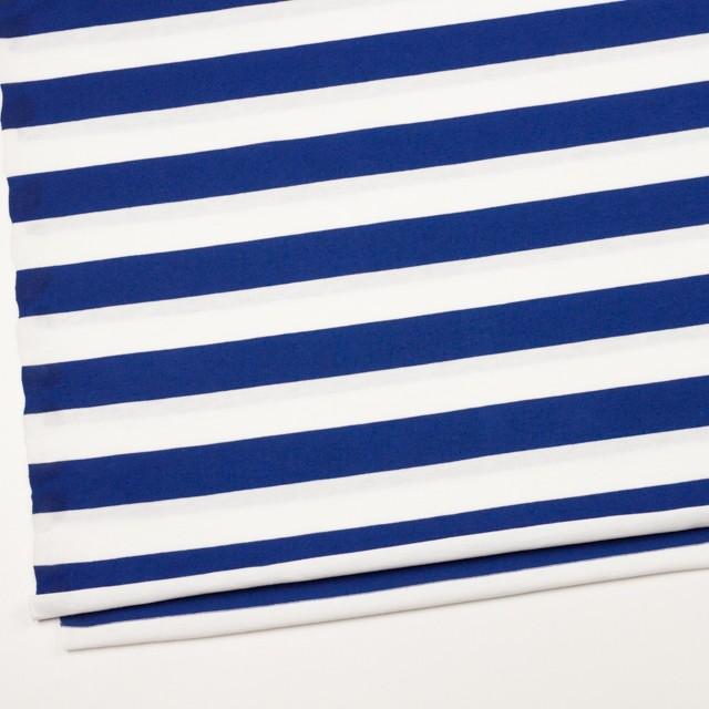 コットン×ボーダー(ホワイト&ブルー)×天竺ニット_全4色 イメージ2