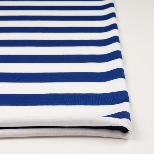 コットン×ボーダー(ホワイト&ブルー)×天竺ニット_全4色 イメージ3