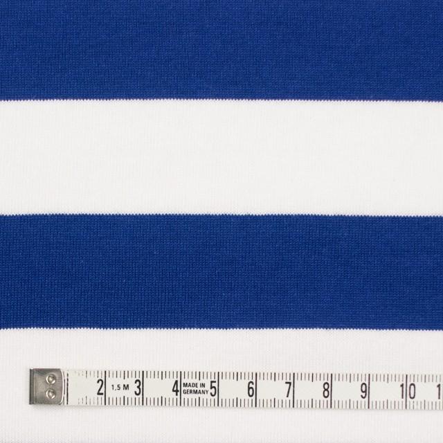 コットン×ボーダー(ホワイト&ブルー)×天竺ニット_全4色 イメージ4
