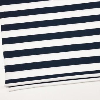 コットン×ボーダー(ホワイト&ダークネイビー)×天竺ニット_全4色 サムネイル2
