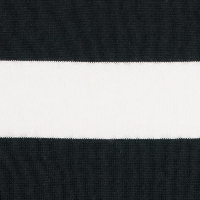 コットン×ボーダー(ホワイト&ブラック)×天竺ニット_全4色 イメージ1