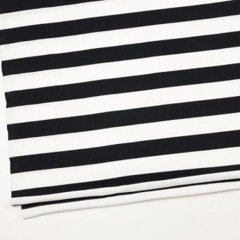 コットン×ボーダー(ホワイト&ブラック)×天竺ニット_全4色 サムネイル2