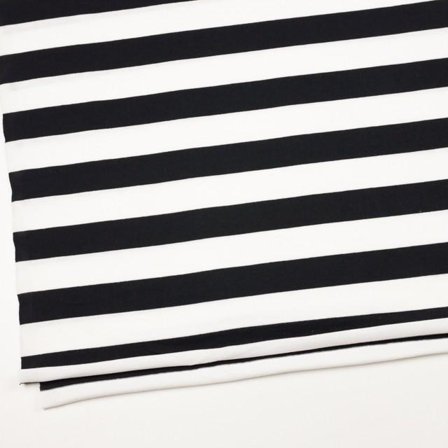 コットン×ボーダー(ホワイト&ブラック)×天竺ニット_全4色 イメージ2
