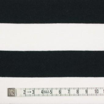 コットン×ボーダー(ホワイト&ブラック)×天竺ニット_全4色 サムネイル4