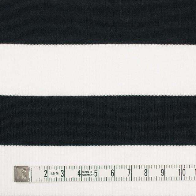 コットン×ボーダー(ホワイト&ブラック)×天竺ニット_全4色 イメージ4