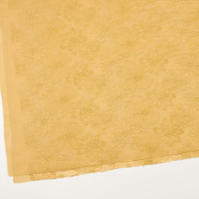 コットン×フラワー(マスタード)×ボイル刺繍_全2色 イメージ2
