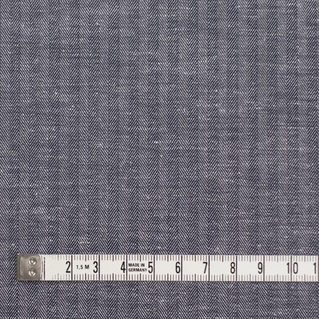 コットン&リネン×無地(ネイビー)×ヘリンボーン_全2色 イメージ4