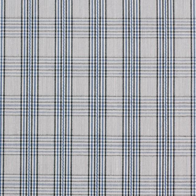 コットン×チェック(ブルー&グレー)×ブロード イメージ1