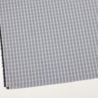 コットン×チェック(ブルー&グレー)×ブロード サムネイル2