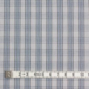 コットン×チェック(ブルー&グレー)×ブロード サムネイル4