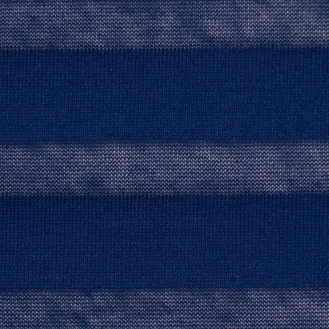 コットン×ボーダー(ネイビー)×天竺ニット イメージ1