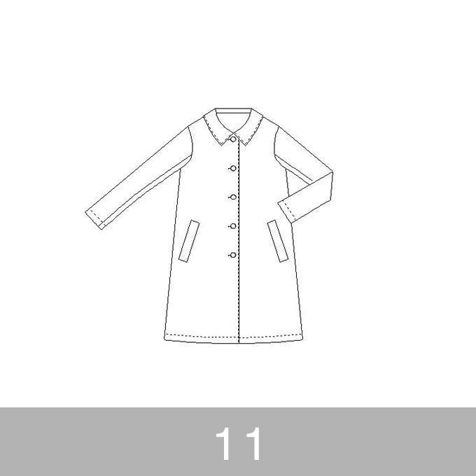 オリジナルパターン#013_Aラインコート_11号 イメージ1