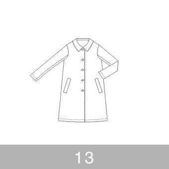 オリジナルパターン#013_Aラインコート_13号 サムネイル1