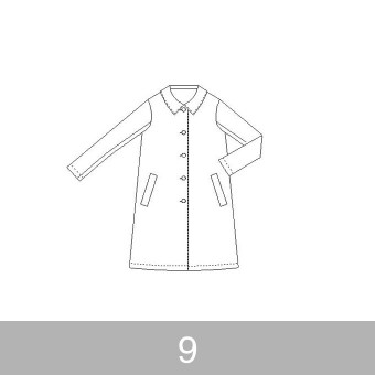 オリジナルパターン#013_Aラインコート_9号 サムネイル1