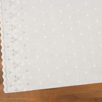 コットン×ボーダー(オフホワイト)×ローン刺繍No1_全2色 サムネイル2