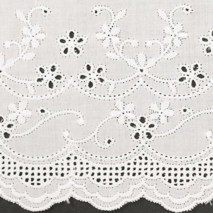 コットン×ボーダー(オフホワイト)×ローン刺繍No1_全2色 イメージ1
