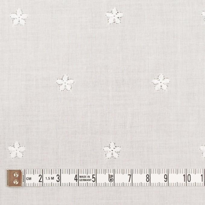 コットン×ボーダー(オフホワイト)×ローン刺繍No1_全2色 イメージ6