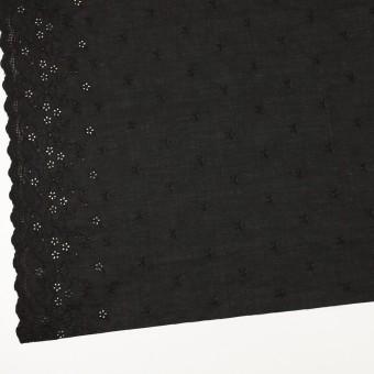 コットン×ボーダー(ブラック)×ローン刺繍No1_全2色 サムネイル2