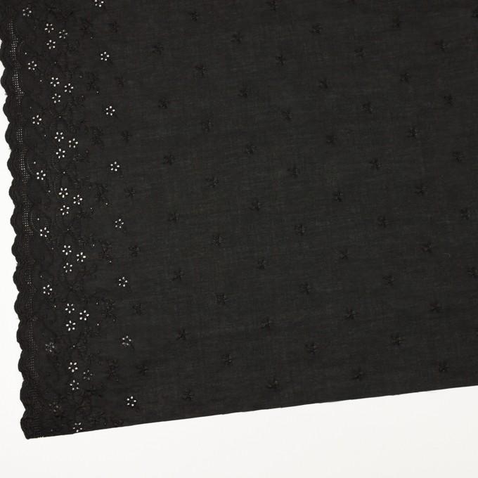 コットン×ボーダー(ブラック)×ローン刺繍No1_全2色 イメージ2