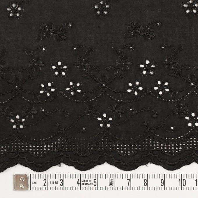 コットン×ボーダー(ブラック)×ローン刺繍No1_全2色 イメージ4