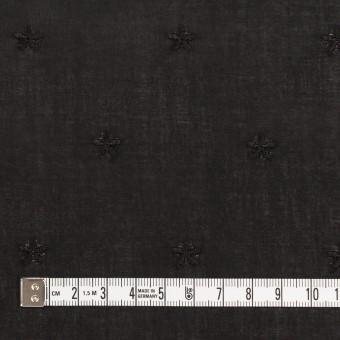 コットン×ボーダー(ブラック)×ローン刺繍No1_全2色 サムネイル6