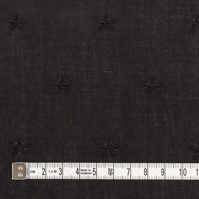 コットン×ボーダー(ブラック)×ローン刺繍No1_全2色 イメージ6