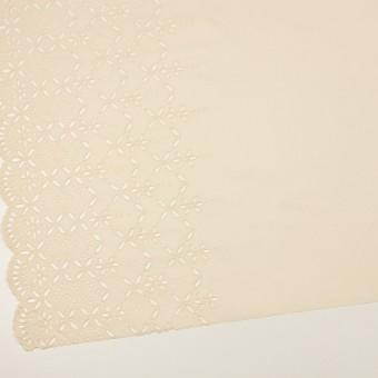 コットン×ボーダー(クリーム)×ローン刺繍No2_全4色 サムネイル2