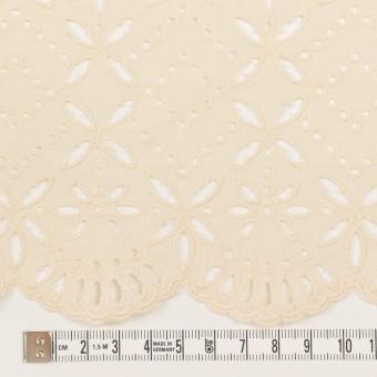 コットン×ボーダー(クリーム)×ローン刺繍No2_全4色 サムネイル4