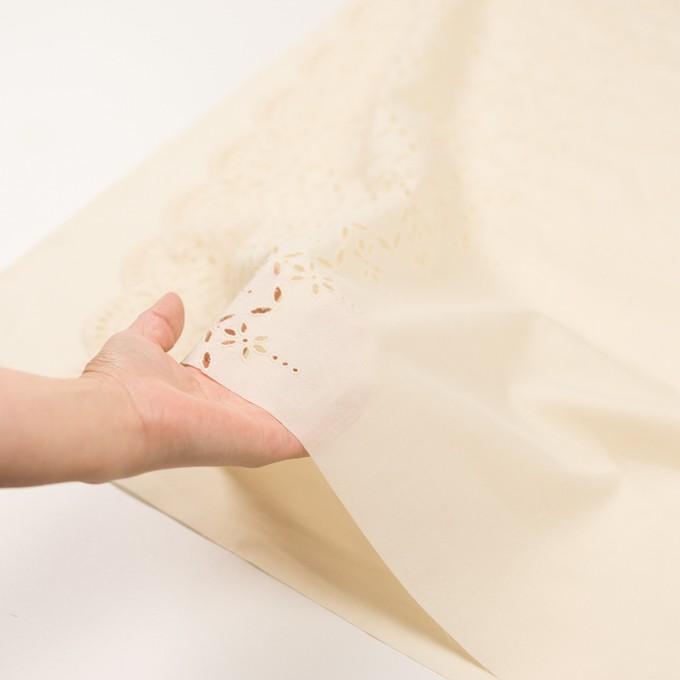 コットン×ボーダー(クリーム)×ローン刺繍No2_全4色 イメージ5