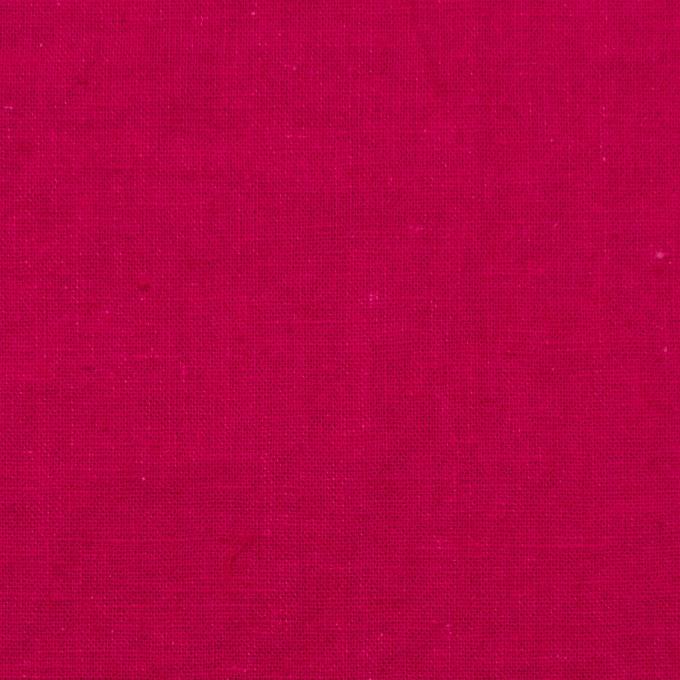 リネン&コットン×無地(ストロベリーレッド)×シーチング_全36色 イメージ1