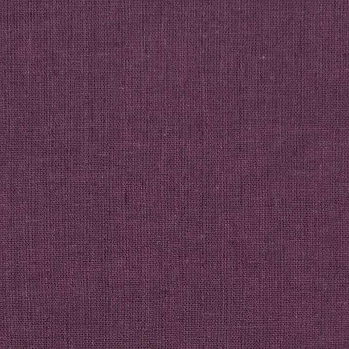 リネン&コットン×無地(グレイッシュパープル)×シーチング_全36色 イメージ1