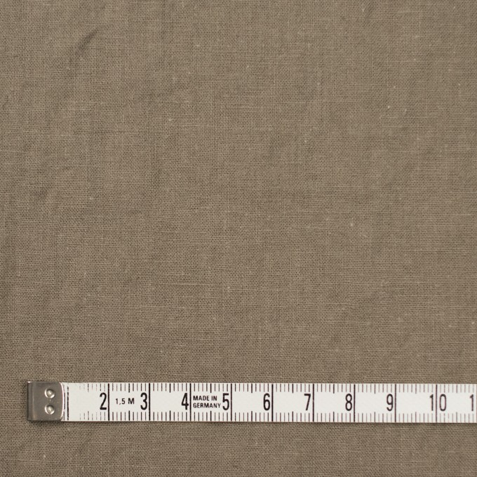 リネン&コットン×無地(カーキベージュ)×シーチング_全36色 イメージ4