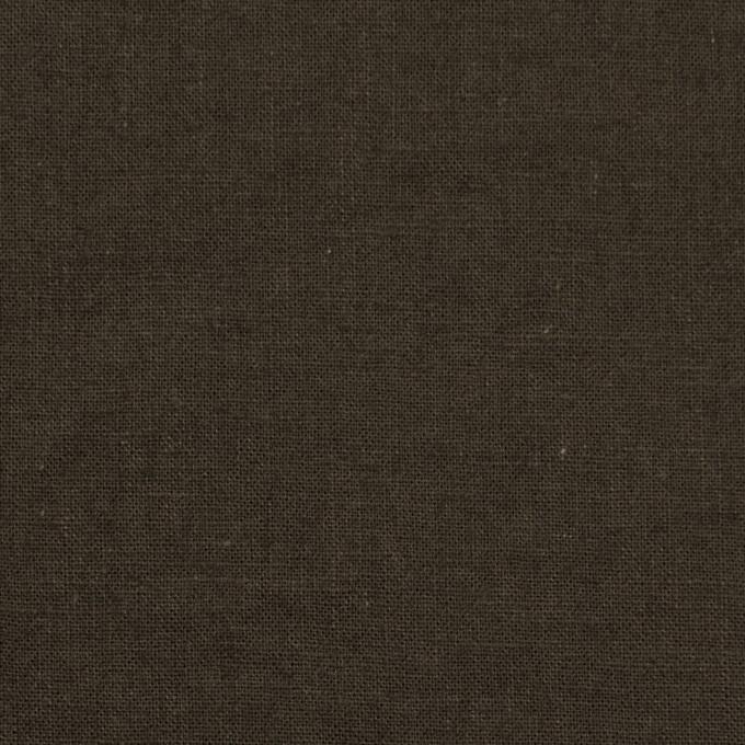 リネン&コットン×無地(カーキブラウン)×シーチング_全36色 イメージ1