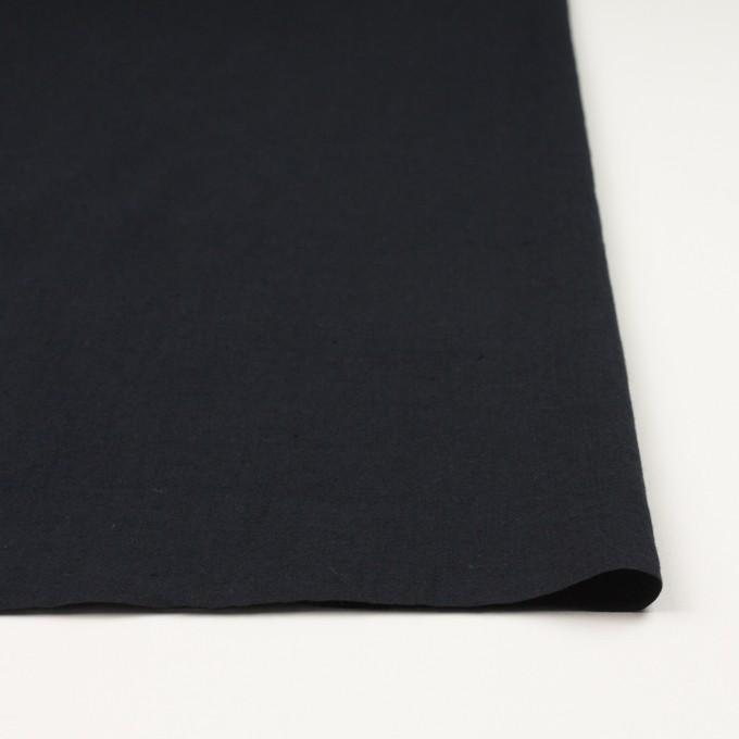 リネン&コットン×無地(ブラック)×シーチング_全36色 イメージ3