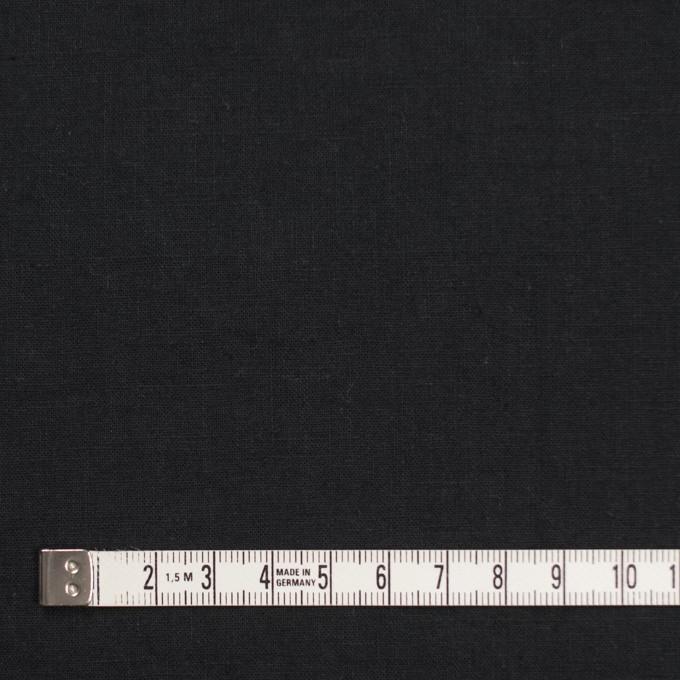 リネン&コットン×無地(ブラック)×シーチング_全36色 イメージ4
