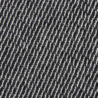 コットン&ポリエステル×斜め縞(ブラック&ブラック)×かわり織_全2色
