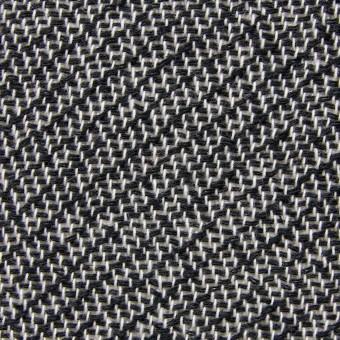 コットン&ポリエステル×斜め縞(ブラック&ホワイト)×かわり織_全2色