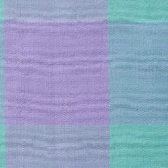 コットン&リネン×ブロックチェック(エメラルドグリーン)×シーチングワッシャー_全3色