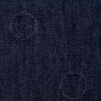 コットン×サークル(インディゴ)×デニムジャガード