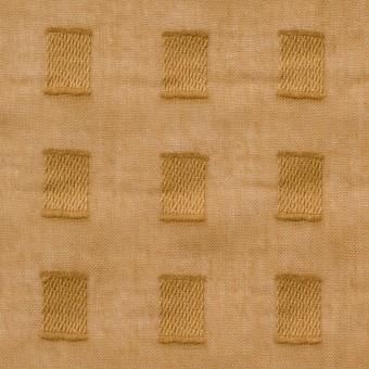 コットン×スクエア(マスタード)×ボイルジャガード_全6色