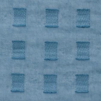 コットン×スクエア(グレイッシュブルー)×ボイルジャガード_全6色